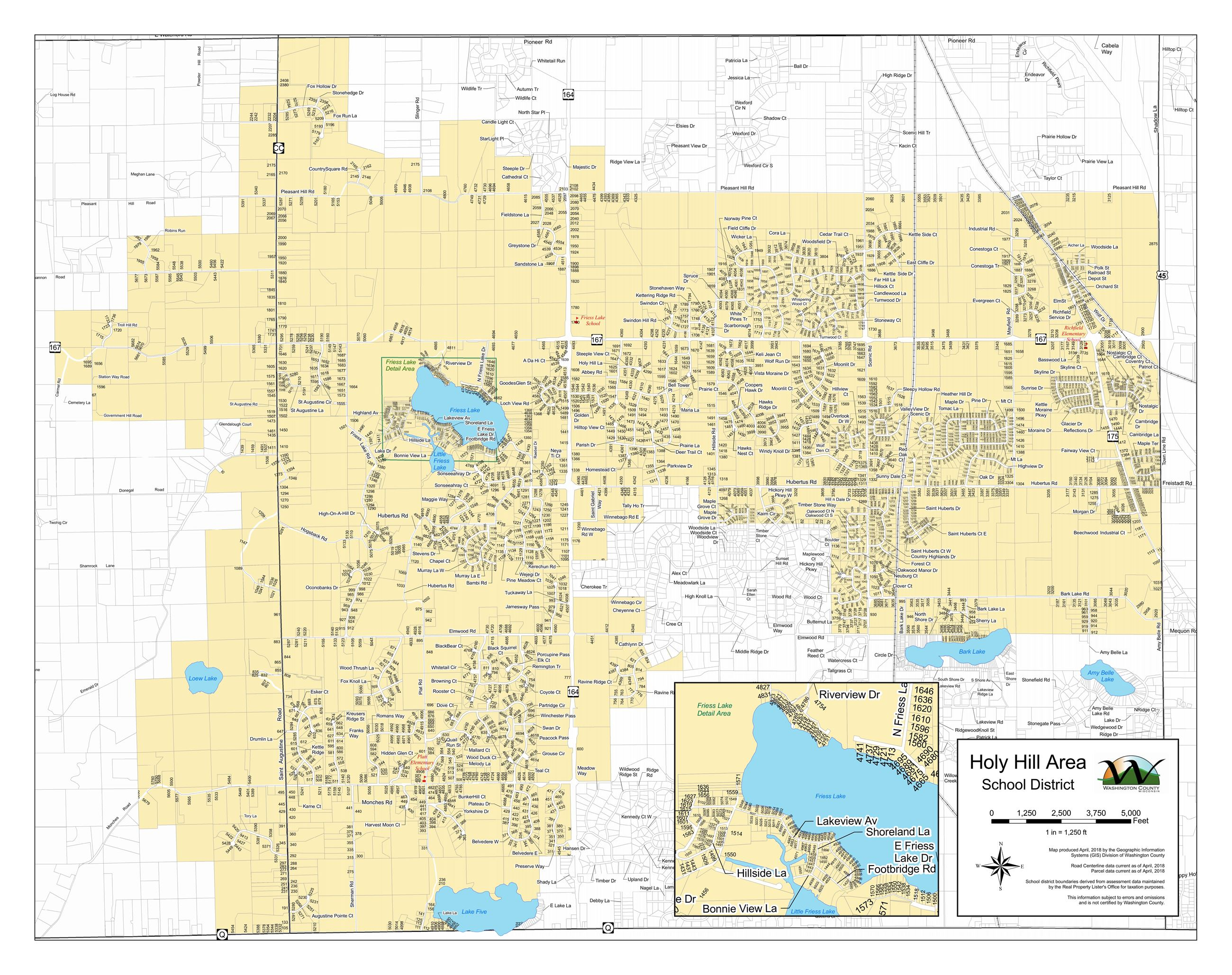 Holy Hill Area School District  Map_Page_1