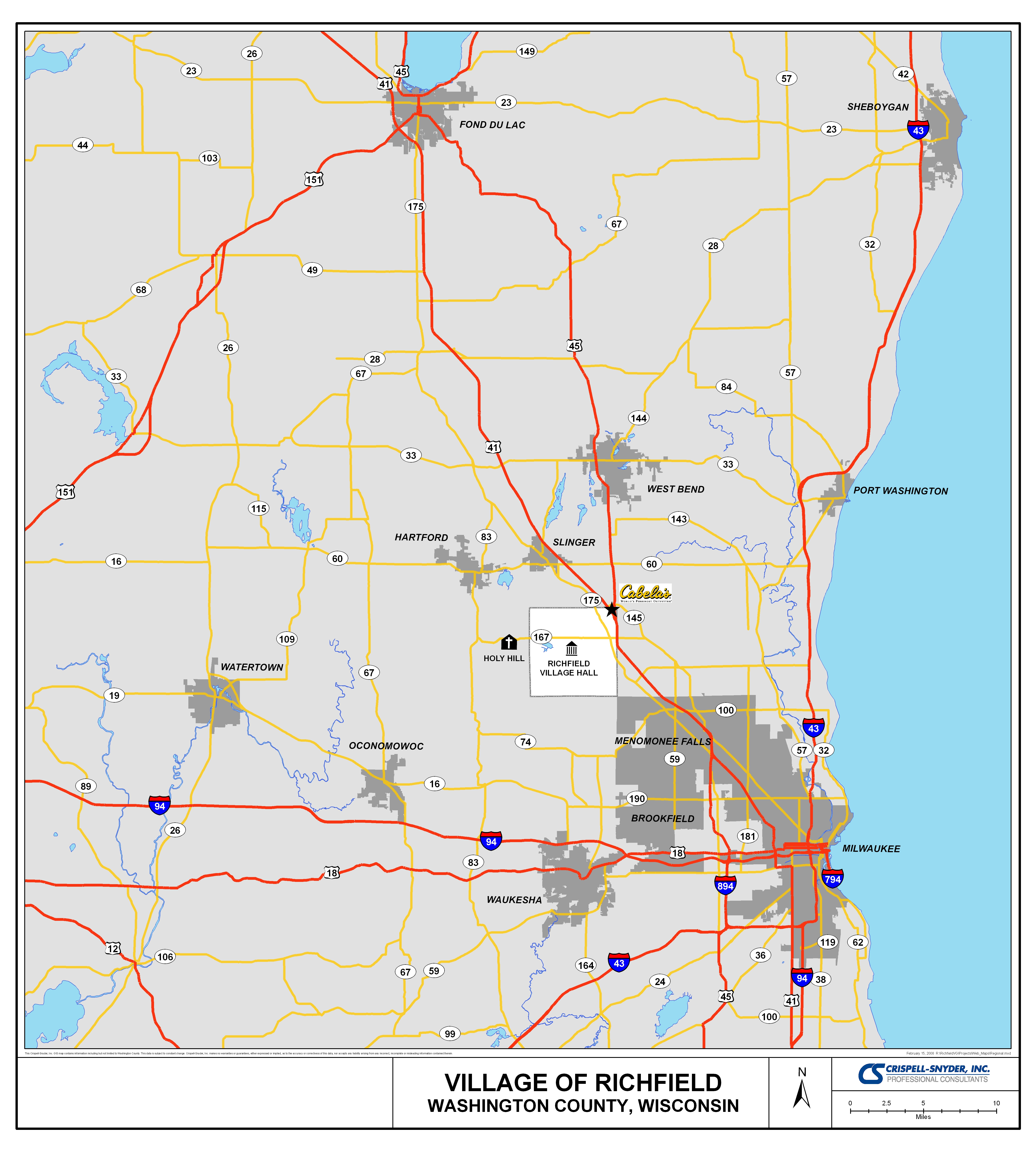 Richfield WI Official Website Maps - Wi maps